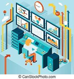 analytics, finanziario, affari, analisi
