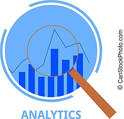 analytics, vettore, -