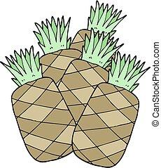 ananas, cartone animato
