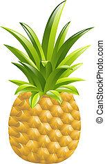 ananas, illustrazione, icona