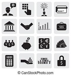 anche, ricchezza, risparmio, icons(signs), creazione, banca, affari, finanza, investimenti, vettore, &, graphic., relativo, lattina, money(cash), soldi, wealth-, schede risparmi, illustrazione, conto, rappresentare, questo, bancario