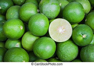 ancora, verde, vita, taglio, limone