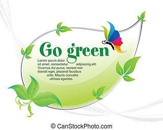 andare, astratto, sfondo verde
