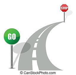 andare, fermata, strada