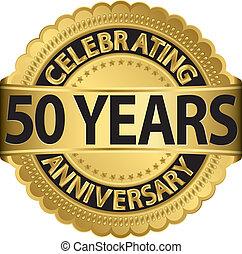 andare, festeggiare, anni, anniversario, 50