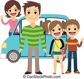 andare, vacanza, viaggio famiglia
