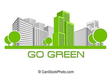 andare, verde