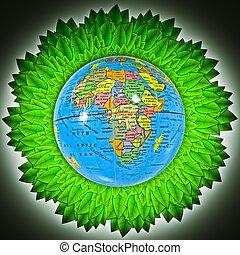 andare, verde, concetto
