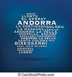 andorra, mappa