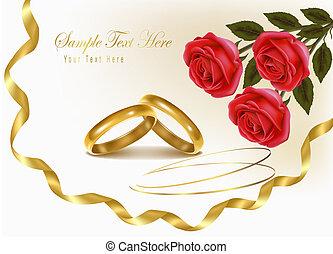 anelli, fondo, matrimonio