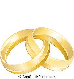 anelli, o, bande, matrimonio