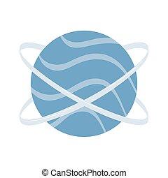 anelli, pianeta, spazio, orbitare