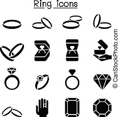 anello, set, icona