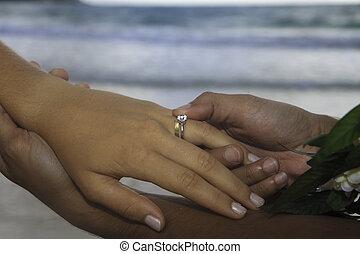 anello, uomo, locali, matrimonio