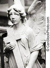 angelo, presa a terra, croce
