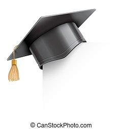 angolo, berretto, carta, graduazione