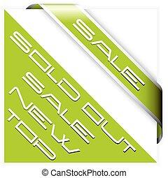 angolo, verde, vendita, nastro