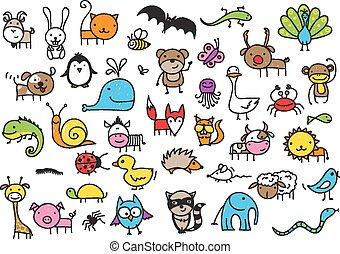 animali, disegni, bambino