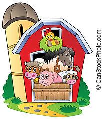 animali fattoria, vario, granaio