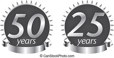 aniversary, 25, anni, 50, sigillo