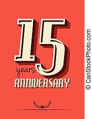 anniversario, anni, 15