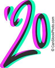anno, 2020, visuale, art fisso