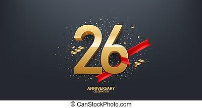 anno, 26th, fondo, anniversario
