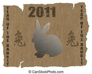 anno, cinese, coniglio, 2011
