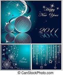 anno, felice, buon natale, nuovo