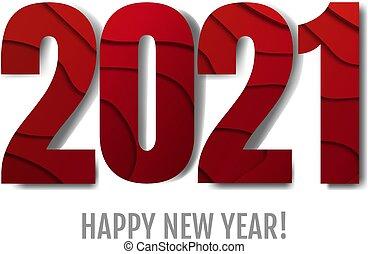 anno, felice, nuovo, testo, sfondo bianco