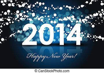 anno, -, fondo, 2014, nuovo, felice