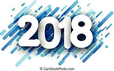 anno, fondo., nuovo, 2018, blu