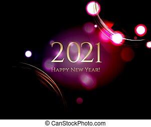 anno, fondo, nuovo, nero, scheda, felice