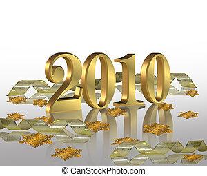 anno nuovo, 2010, festa, invito