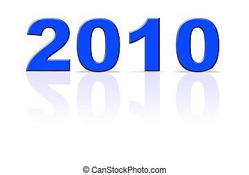 anno nuovo, 2010, isolato