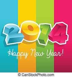 anno nuovo, colorito, 2014