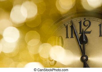 anno nuovo, orologio