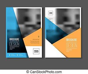 annuale, illustrazione, vettore, relazione
