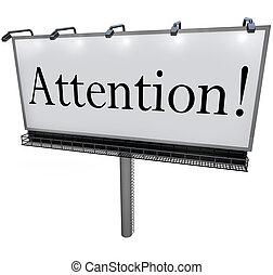 annuncio, parola, attenzione, urgente, tabellone, messaggio, speciale