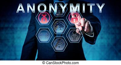anonimato, toccante, fornitore di servizi internet