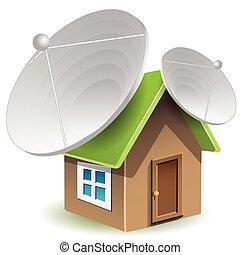 antenne parabolici, casa