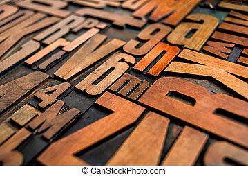 anticaglia, blocchetti legno, letterpress, stampa, tipo