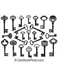 anticaglia, collezione, chiavi