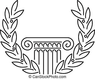 anticaglia, greco, colonna, alloro