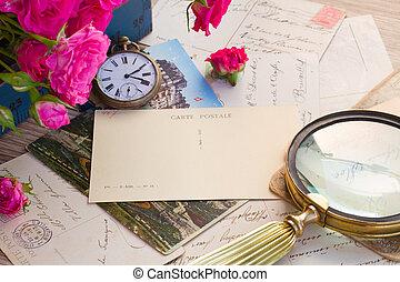 anticaglia, orologio, posta, vecchio