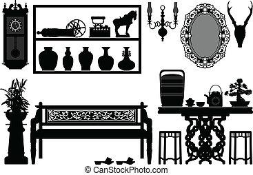 anticaglia, tradizionale, vecchio, mobilia
