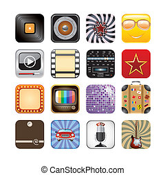 app, retro, icone