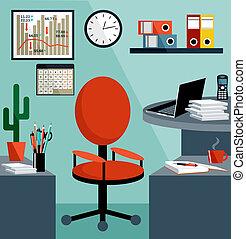 apparecchiatura affari, objects., ufficio, cose, posto lavoro
