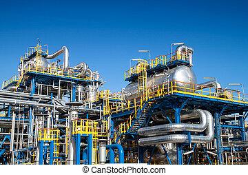 apparecchiatura, industria, olio, installazione