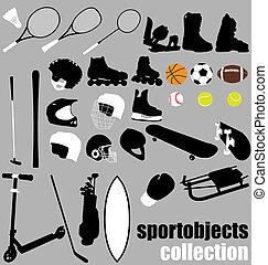 apparecchiatura, sport, set